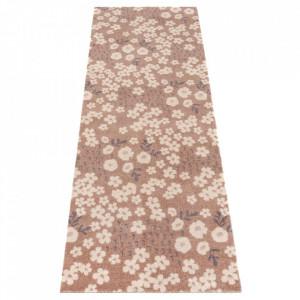 Covor maro/crem din poliamide 67x180 cm Viva Dulce Brown Cream Elle Decor