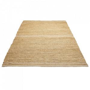 Covor maro/gri din iuta si lana 140x200 cm Conwy Bolia