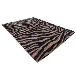 Covor maro/negru din lana 200x300 cm Zebra Van Roon Living