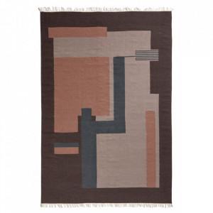 Covor multicolor din lana 200x290 cm Blush Nordal