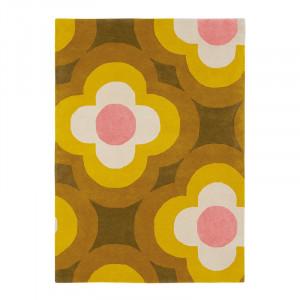 Covor multicolor din lana OR Pulse-Yellow Brink & Campman (diverse dimensiuni)