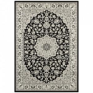 Covor negru/gri din bumbac si viscoza 160x230 cm Orient Keshan The Home