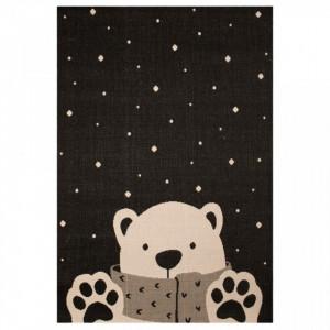 Covor negru pentru copii 170x120 cm Icebear Stan Zala Living