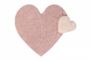 Covor nude din bumbac pentru copii 160x180 cm Puffy Love Nude Lorena Canals