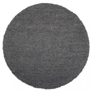 Covor rotund gri din lana 110 cm Grey Wool Bloomingville