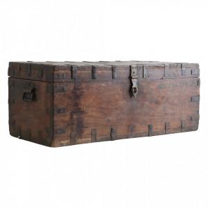 Cufar maro din lemn de tec si fier Hardin Raw Materials