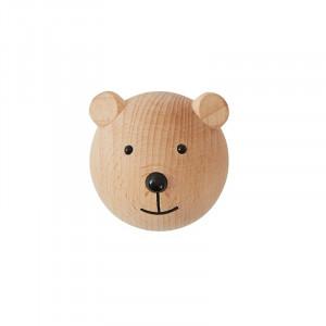 Cuier maro din lemn Bear Mini Oyoy