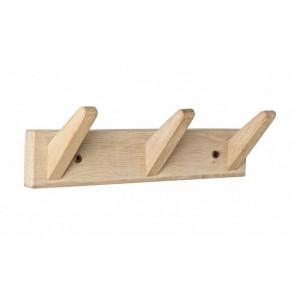 Cuier maro din lemn de stejar Daiki Bizzotto