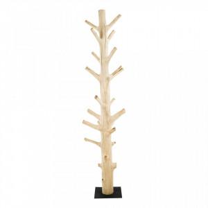 Cuier maro din lemn de tec Light Zago