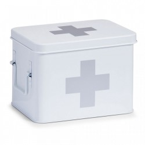 Cutie alba cu capac din metal pentru medicamente Medicine Box White Zeller