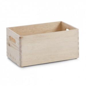Cutie depozitare maro din lemn de pin 30x40 cm Softwood Zeller