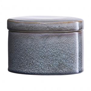 Cutie gri din ceramica cu capac 10x14 cm Croz House Doctor