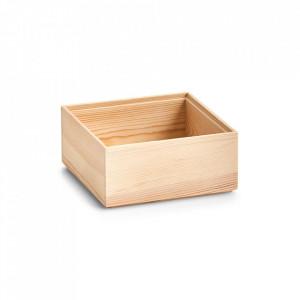 Cutie maro din lemn Luz Square Zeller