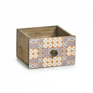 Cutie multicolora din lemn si placaj Mosaic Drawer Big Zeller