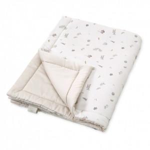 Cuvertura matlasata din bumbac pentru copii 90x120 cm Giulia Fawn Cam Cam