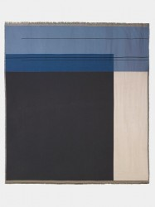 Cuvertura multicolora din bumbac 240x250 cm Block Bed Blue Ferm Living