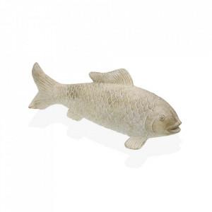 Decoratiune crem din rasina 13 cm Fish Figure Versa Home