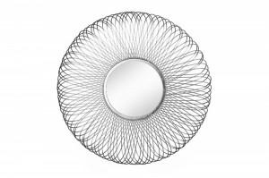 Decoratiune cu oglinda argintie din aluminiu pentru perete 62 cm Infinity Invicta Interior