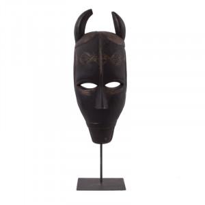 Decoratiune din lemn si metal 51 cm Jafaru Mask LifeStyle Home Collection