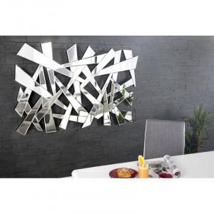 Decoratiune din oglinda pentru perete 80x120 cm Ice Invicta Interior