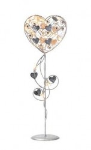 Decoratiune luminoasa LED argintie din metal Hagaberg Heart Markslojd