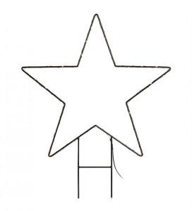 Decoratiune luminoasa LED neagra din metal pentru exterior Mystic Star Low Markslojd