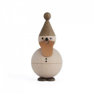 Decoratiune maro din lemn 15 cm Santa Claus Oyoy