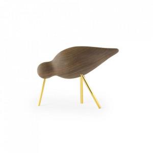 Decoratiune maro din lemn de nuc si otel 11 cm Shorebird Normann Copenhagen