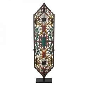 Decoratiune multicolora din lemn 108 cm Shield Dayak Versmissen