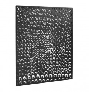 Decoratiune neagra din metal pentru perete 64x70 cm Cyna Kave Home