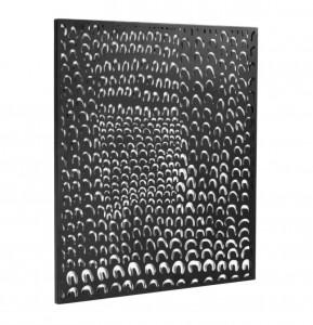 Decoratiune neagra din metal pentru perete 64x70 cm Cyna La Forma