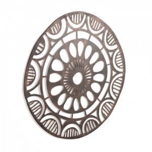 Decoratiune perete argintie din metal 70x72 cm Atila La Forma