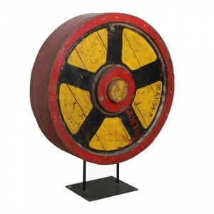 Decoratiune rosie/galbena din lemn si fier 110 cm Mould Raw Materials