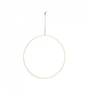 Decoratiune suspendabila maro alama din fier si iuta 60 cm Wire Ring XXL Madam Stoltz