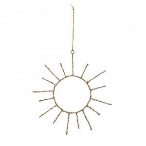 Decoratiune suspendabila maro alama din plastic si fier Sun Bloomingville