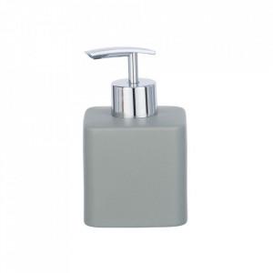 Dispenser gri/argintiu din ceramica 290 ml Hexa Soap Wenko