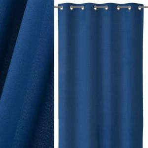 Draperie albastru inchis din bumbac si poliester 140x260 cm Loving Colors Teresa Unimasa