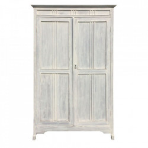 Dulap alb/gri din lemn de tec 208 cm Joannas Denzzo