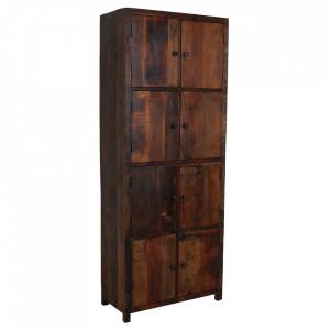 Dulap maro din lemn reciclat 200 cm Ghansor Raw Materials