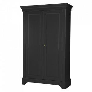 Dulap negru din lemn de pin 191 cm Isabel Woood