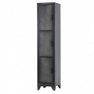 Dulap negru din metal 180 cm Locker Cas Woood