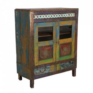 Dulapior multicolor din lemn Bani Raw Materials