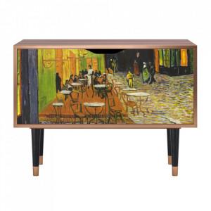 Dulapior multicolor din MDF si lemn Café Terrace At Night By Vincent Van Gogh Clara Furny