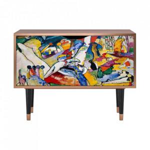Dulapior multicolor din MDF si lemn Improvisation 26 By Wassily Kandinsky Clara Furny