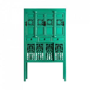 Dulapior verde din lemn Jinan Vical Home