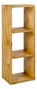 Etajera maro din lemn de pin Cube Three Zago