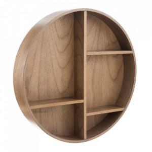 Etajera maro din lemn pentru perete 60 cm Round Ixia