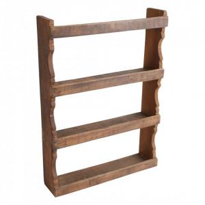 Etajera maro din lemn pentru perete Spice Raw Materials
