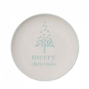 Farfurie alba din ceramica 16 cm Lucia Bloomingville