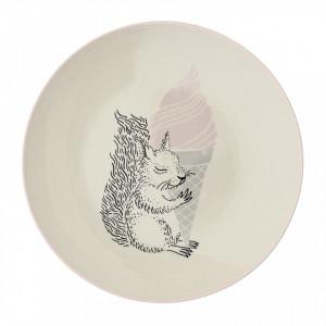 Farfurie alba din ceramica 20 cm Nanna Bloomingville